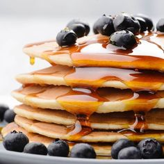 Homemade Pancakes |  Delish & ONLY 56 calories each |  Whole grain to boot! | Fast & easy dry mix recipe too--Never need to buy store mixes again! | NutritionTwins.com