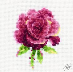 Red Rose - Cross Stitch Kits by RTO - H168 Cross Stitch Rose, Cross Stitch Kits, Cross Stitch Patterns, Cross Stitch Embroidery, Red Roses, Flowers, Jewelry, Fashion, Tights
