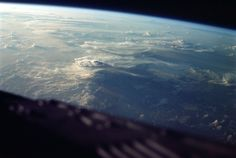 Clouds over Malagasy Republic (Madagascar), seen from the orbiting Gemini III capsule on March 23, 1965. (NASA/JSC/ASU) #