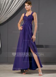 f60e30136854 Sheath Sweetheart Ankle-Length Chiffon Evening Dress With Ruffle Beading  Sequins (017014480) Gala