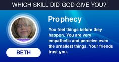 Which Skill Did God Give You?