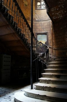 Old stairs in entrance hall of Tbilisi City Centre, Georgia ~ Photo by Anna Bogush