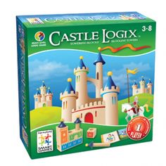 Castle Logix - Brainteaser Game by Smart Games - Help kids to develop logical thinking skills, strategic planning and visual and spatial perception. Sound like too much for the kids - it's not! It's a fun game that helps kids learn necessary life Logic Games, Logic Puzzles, 3d Puzzles, Wooden Puzzles, Wooden Blocks, Board Games For Kids, Single Player, Educational Games, Brain Teasers