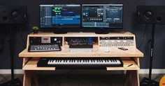 PLATFORM by Output - A Desk For Musicians | Natural With Keyboard Tray