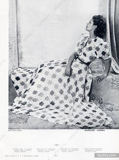 Madeleine Vionnet 1939 Coudurier Fructus Descher, Photo Robert Rigassi