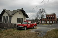 Ailey GA Montgomery County Small Rural Southern Town City Hall Old Railroad Depot Fire Department Truck Commercial Architecture Picture Photo Copyright Brian Brown Vanishing South Georgia