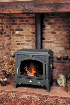 Euroheat has closed Corner Wood Stove, Wood Stove Hearth, Wood Burner Fireplace, Inglenook Fireplace, Small Fireplace, Rustic Fireplaces, Fireplace Design, Fireplace Mantels, House Extension Design