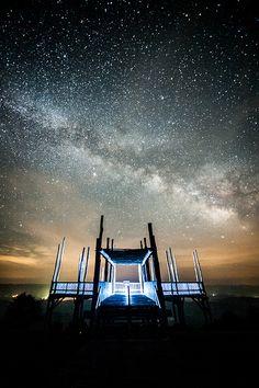 Milky Way over Bald Knob, Cass, West Virginia