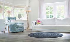 Eiken houten vloer in woonkamer