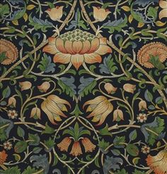 William Morris & Co Archive Prints 2 Fabrics Lodden Fabric - Indigo/Mineral - 222521 Victorian Tiles, Victorian Art, Unicorn Tapestries, Edward Burne Jones, Medieval Tapestry, Aesthetic Movement, William Morris, Beautiful Patterns, Colorful Backgrounds