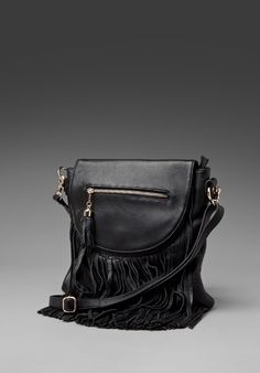 d2ee227967 JEFFREY CAMPBELL Balagia-2 Fringe Crossbody in Black Leather at Revolve  Clothing - Free Shipping