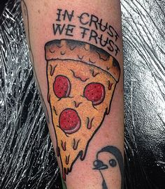 So funny. I can't stop looking at pizza tattoos.