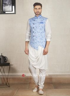 Waistcoat Set for Men - Let you look smart and dashing in waistcoat set. Buy Online Men's Waistcoat Set for Festive Season in India at Best Prices at Fashion. Indian Wedding Clothes For Men, Wedding Kurta For Men, Wedding Dress Men, Nehru Jacket For Men, Waistcoat Men, Nehru Jackets, Kurta Pajama Men, Kurta Men, Indian Men Fashion