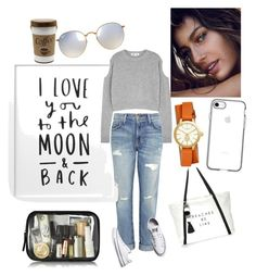 A fashion look from August 2017 featuring cold shoulder sweater, frayed-hem jeans and converse shoes. Browse and shop related looks. Jeans And Converse, Converse Shoes, Frayed Hem Jeans, Cold Shoulder Sweater, Alexander Mcqueen, Tory Burch, Ray Bans, Fashion Looks, Casual