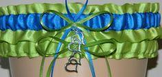 Wedding Garter Super Store - Apple Green and Royal Blue Wedding Garter Set, $15.99 (http://www.weddinggartersuperstore.com/apple-green-and-royal-blue-wedding-garter-set/)