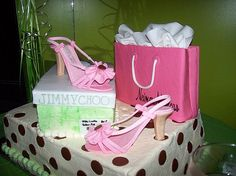 My wife loves shoes. I will have to buy some closet for her...  Pink Shoe Cake