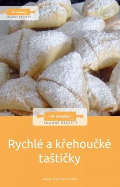 Quick and Fragile Bags - Easy Recipes Czech Desserts, Ham, Easy Meals, Easy Recipes, Food And Drink, Dairy, Sweets, Bread, Cheese