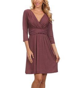 Another great find on #zulily! Gilli Burgundy Surplice Dress by Gilli #zulilyfinds