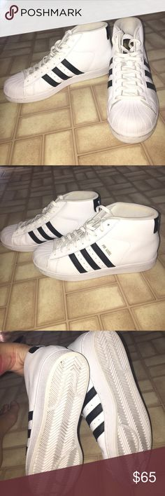 Brand new nwot men's adidas high tops Nwob men's size 9 adidas high tops. They are my husbands but he just doesn't want them adidas Shoes Sneakers