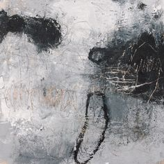 """Mixed media on panel. 15½ x 15½ inches. From the """"Heavy Weather"""" series"""
