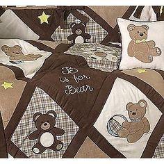 Sweet Jojo Designs -Teddy Bear Chocolate Collection 9pc Crib Bedding Set