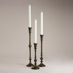 One of my favorite discoveries at WorldMarket.com: Alto Metal Taper Candleholder Collection