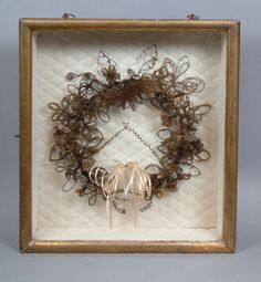 19th-C-Victorian-Hair-Wreath-Very-Large-Excellent-Condition-Mourning-Decor