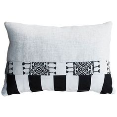 Kim Salmela Patched 14x20 Pillow Black/White Decorative Pillows (5,200 PHP) ❤ liked on Polyvore featuring home, home decor, throw pillows, textured throw pillows, black and white throw pillows, stripe throw pillows, black and white toss pillows and white accent pillows