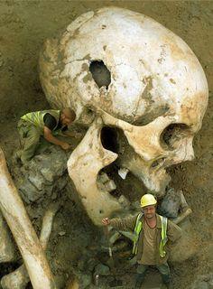 Des squelettes de géants, de sirènes, ou encore de fée. Voici quelques unes des trouvailles archéologiques de ces dernières années.   Évidemment, tout cela n'est que le résultat d'un concours de graphisme :D