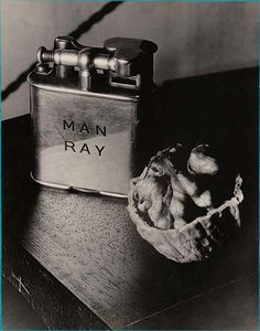 Man Ray ~ ... pocket cigarette-lighter juxtaposed to a walnut that looks like some opened brains... Lewis Mumford ~ The New Yorker, 1934