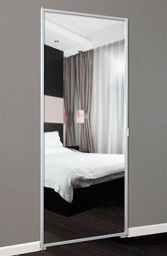 Series 9 Swing Mirror Door Mirror Closet Doors, Bathroom Doors, Mirror Door, Home Room Design, Bathroom Interior Design, Invisible Doors, Cool Doors, Aluminium Doors, Dining Room Walls