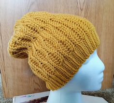 The Rolling Waves Slouchy Hat by CuddleinCrochet on Etsy