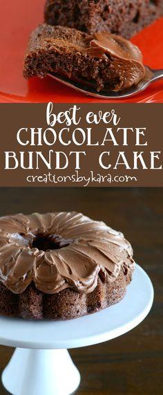 Best Ever Chocolate Bundt Cake | Simple to make, but the most delicious chocolate cake ever! | Chocolate Lover's Bundt Cake #chocolatecake #bundtcake