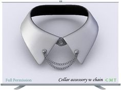 Collar accessory w chain Full Permission You can add any decorative element on the chain, such as the cross, and give your personal style decorati. Dog Tag Necklace, Personal Style, Chain, Accessories, Jewelry, Fashion, Moda, Jewels, Fashion Styles