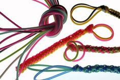 Braid plastic laces to make lanyards.                                                                                                                                                                                 More