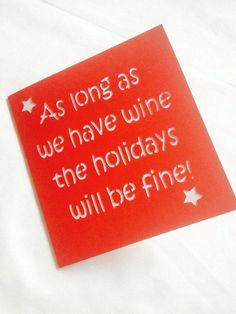 Funny christmas card card for friend christmas by AprilDaysDesigns