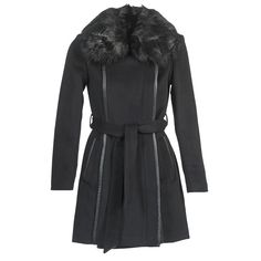 Morgan GCOAT Noir pas cher prix Manteau Femme Spartoo 139.00 €