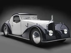 1934 Voisin Type C27 Aérosport Coupe Like many automobiles of the era, the Voisin Type C27 was created with aerodynamics and aeronautical design in mind. Its maker, Gabriel Voisin, was an aviation pro who created the first manned, engine-powered, heavier-than-air plane in Europe capable of a sustained, controlled flight. His military aircraft greatly helped France during World War I.