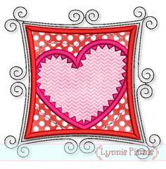 Crafty Heart Applique 4x4 5x7 6x10 7x11 SVG