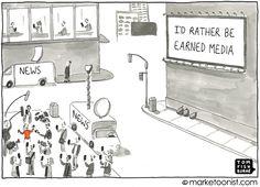 """Earned Media"" cartoon"