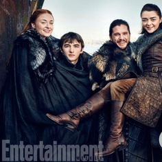Game of Thrones Exclusive New Photos: @entertainmentweekly Reunites the Starks   This weeks Entertainment Weekly gives fans a long-awaited Stark family reunion  collect all five covers featuring Jon Snow Arya Sansa and Bran.  Sophie Turner Isaac Hempstead Wright Kit Harington and Maisie Williams: The Starks are together again…