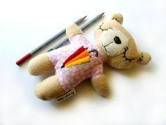 Nadziewane HandmadeTeddy Niedźwiedź Parasol Decor Plushie Bezpieczne miękkie Softie Maluch BabyToy dla dzieci Bawełna polar begie i różu