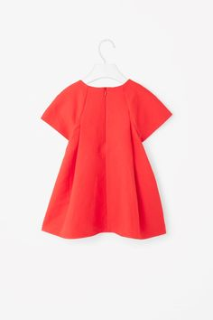 COS image 2 of A-line cotton-linen dress in Tangerine