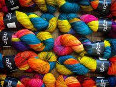 Turn It Up on Cheviot Aran yarn. http://ift.tt/1KZ2I2O ______________________ #countessablaze #yarn #ravelry #rainbow #britishyarn #britishwool #yarnporn #yarnlovers #knitstagram #indiedyer #swinton #manchester