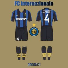 FC Internazionale 2000/01 Sports, Tops, Fashion, Moda, La Mode, Sport, Shell Tops, Fasion, Fashion Models