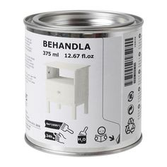 IKEA - BEHANDLA, Glazing paint, white, , Makes the surface of untreated wood more durable.