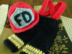 Crochet Fireman Hat and Pants with by SweetpeasAlley on Etsy, $45.00