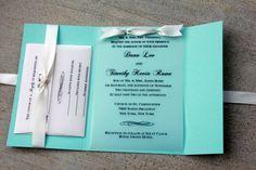 Tiffany Blue Wedding Invitation Tiffany Blue with by SweetSights