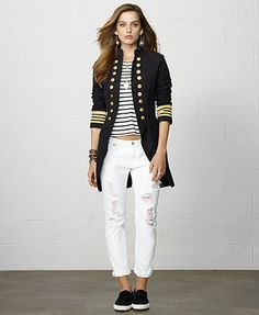 Denim & Supply Ralph Lauren Double-Breasted Long Military Jacket