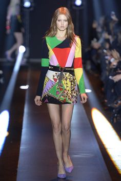 Fausto Puglisi AW1415 Sonia Delaunay Other Sonia Delaunay-influenced collections : Billy Reid SS 2014 Menswear, Chanel SS 2006, Clements Ribeiro SS2011, Doo.Ri Resort 2012, Hermès, Jean Paul Gaultier AW 2005-2006 Menswear, Milly SS 2012, Perry Ellis, Pino Lancetti 1976, Rachel Roy Resort 2013, Rodier by Emilie Luc-Duc SS 2012, TSE Resort 2012, Versace